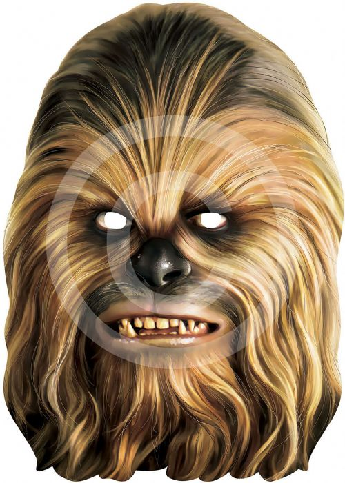 Chewbacca Card Face Mask Wooki Star Wars Animal Party Decoration